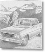 1962 Chevrolet Impala 4 Door Classic Car Art Print Metal Print