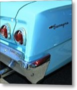 1962 Chevy - Chevrolet Biscayne Logos And Tail Lights Metal Print