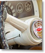 1962 Chevy Stering Wheel Metal Print