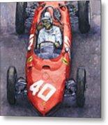 1962 Monaco Gp Willy Mairesse Ferrari 156 Sharknose Metal Print