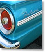 1963 Ford Falcon Tail Light And Logo Metal Print
