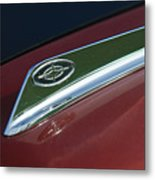1963 Ford Galaxie Hood Ornament Metal Print