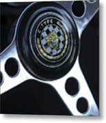 1963 Jaguar Xke Roadster Steering Wheel Metal Print