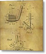 1963 Sand Wedge Patent Metal Print