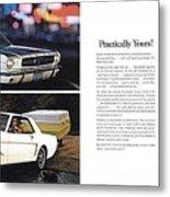 1964 Ford Mustang-10-11 Metal Print