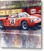 1964 Lemans 24 Ferrari 275p Ludovico Scarfiotti  Metal Print