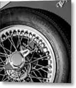 1964 Morgan 44 Spare Tire Black And White Metal Print