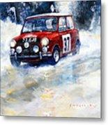 1964 Rallye Monte Carlo Mini Cooper S Hopkirk Liddon Winner Metal Print