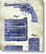 1964 Smith And Wesson Gun Patent Two Tone Metal Print