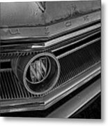 1965 Buick Hood Ornament B And W Metal Print
