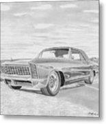 1965 Buick Riviera Gs Classic Car Art Print  Metal Print