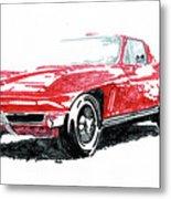 1965 Corvette Metal Print