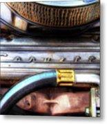 1965 Corvette Engine Digitally Painted Metal Print