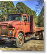 1965 Ford F600 Snub Nose Commercial Truck Metal Print