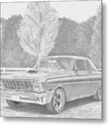 1965 Ford Falcon Classic Car Art Print Metal Print