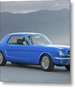 1965 Ford Mustang 'blue Coupe' I Metal Print