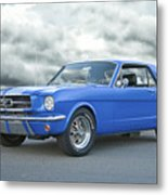 1965 Ford Mustang 'blue Coupe' IIa Metal Print
