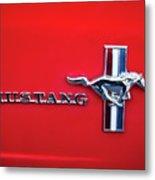 1965 Ford Mustang Emblem 4 Metal Print