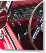 1965 Ford Mustang Fastback Dash Metal Print