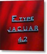 1965 Jaguar E Type Emblem Metal Print