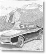 1966 Buick Riviera Classic Car Art Print Metal Print