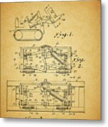 1966 Bulldozer Patent Metal Print