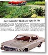 1966 Chevrolet Chevelle Turbo-jet V8's Metal Print