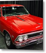 1966 Chevy Chevelle Ss 396 . Red . 7d9278 Metal Print by Wingsdomain Art and Photography