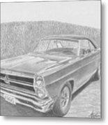 1966 Ford Fairlane Muscle Car Art Print Metal Print