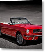 1966 Ford Mustang Convertible Metal Print