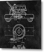 1966 Lawn Mower Patent Image Metal Print