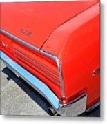 1966 Pontiac Gto Tail Lights And Logos Metal Print
