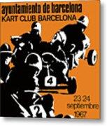 1967 Barcelona Kart Racing Poster Metal Print