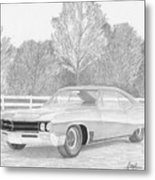 1967 Buick Wildcat Classic Car Art Print Metal Print