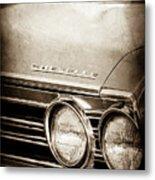 1967 Chevrolet Chevelle Ss Super Sport Emblem -0413s Metal Print