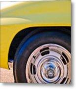 1967 Chevrolet Corvette Sport Coupe Rear Wheel Metal Print