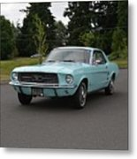 1967 Ford Mustang Watts Metal Print