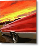 1967 Plymouth Satellite Convertible Metal Print