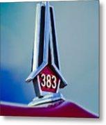 1967 Plymouth Saturn Hood Ornament Metal Print
