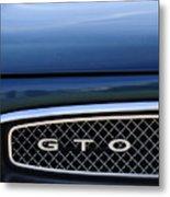 1967 Pontiac Gto Grille Emblem Metal Print