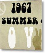 1967 Summer Of Love Newspaper Metal Print