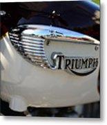 1967 Triumph Gas Tank 2 Metal Print