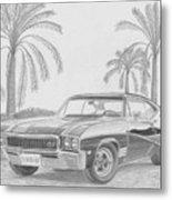 1968 Buick Skylark Gs Muscle Car Art Print Metal Print