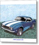 1968 Chevrolet Camaro Z 28 Metal Print