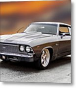 1968 Chevrolet Chevelle Ss L Metal Print