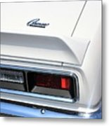 1968 Chevy - Chevrolet Camaro Tail Lights And Logo Metal Print