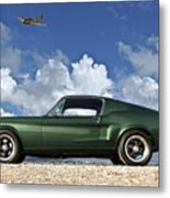 1968 Ford Bullitt Mustang Gt 390 Fastback, P-51 Mustang, Plymouth Rock Chicken Metal Print