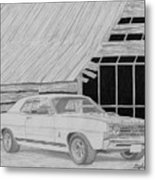 1968 Ford Fairlane Muscle Car Art Print Metal Print