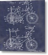 1968 Schwinn Stingray Patent In Blueprint Metal Print