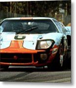 1969 24 Hours Of Le Mans Ford Gt40 First Place, Mixed Media  Metal Print